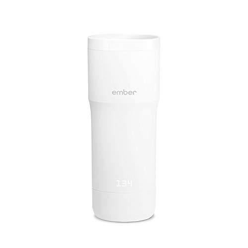 Ember TM151202US Reisebecher mit Temperaturkontrolle, groß, Weiß