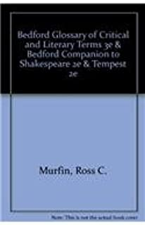 Bedford Glossary of Critical and Literary Terms 3e & Bedford Companion to Shakespeare 2e & Tempest 2e