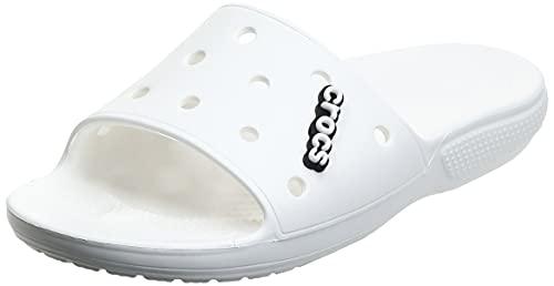 Crocs Classic Crocs Slide Unisex - Adulto Slide, Sandali a Punta Aperta, Bianco (White), 38/39 EU