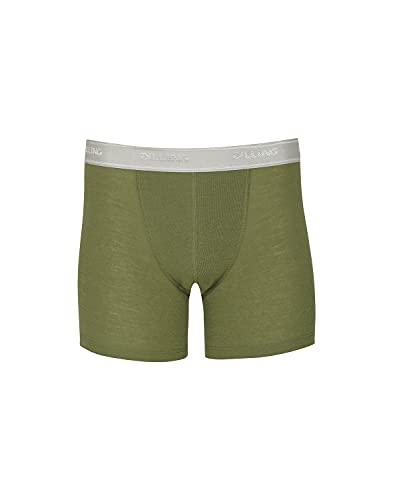 Dilling Boxershorts aus Merinowolle für Herren Avocado grün M