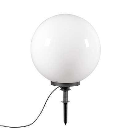 QAZQA - Modern Außenlampe mit Erdspieß | Stableuchte 50 cm IP44 - Bol | Außenbeleuchtung - Kunststoff Rund | Kugel | Kugelförmig - LED geeignet E27