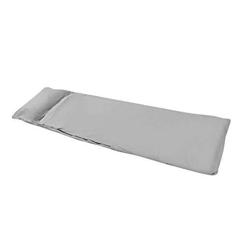 Sjzwt Outdoor-Ultralight Schlafsack tragbare Einzel Schlafsäcke Liner Polyester-Rohseide Camping-Reisen (Color : Gray)
