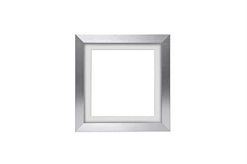 3D Deep Box Frame Range Bilder/Foto/Posterrahmen mit maßgeschneiderter Halterung – mit einer MDF-Rückwand – Silberner Rahmen mit weißer maßgeschneiderter Halterung – 35,6 x 27,9 cm für A4-Bilder