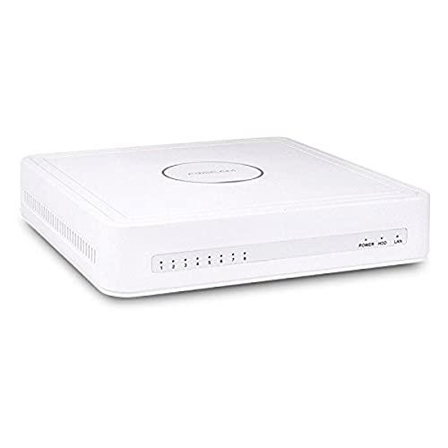 Foscam FN7108HE Network Video Recorder- Grabadora de video en red, 8puertos PoE y función P2P, Blanco