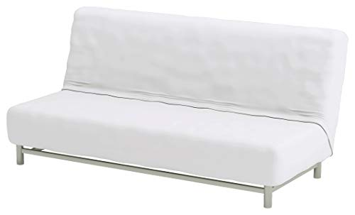 The Faux Polyester Beddinge Lovas Sofa Bed Cover Replacement is Custom Made for IKEA Beddinge Sleeper, A Quality Futon Slipcover Replacement (White)
