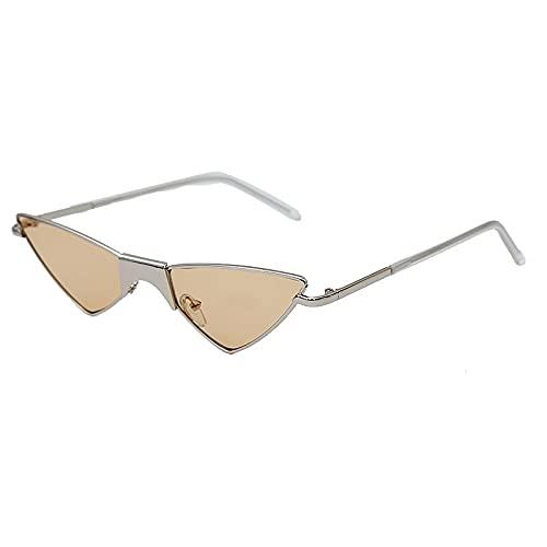 FACHA Gafas de sol unisex con diseño de ojo de gato y triángulo, lentes transparentes, accesorios de fiesta (color : B, tamaño: M)