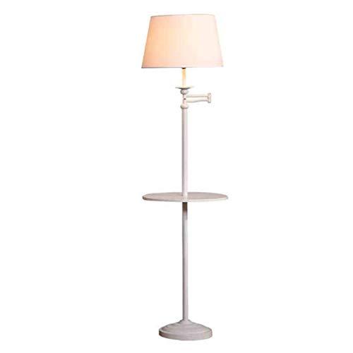 L-YINGZON Lámpara de pie Lámpara de pie Iluminación de Interior Lámpara de Hierro Antiguo lámpara de cabecera - Interruptor de Pedal Lámparas de iluminación