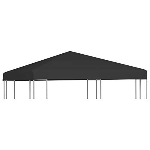 Tidyard Toldo de Cenador Toldo de Repuesto Techo de Carpa de Jardín Toldo de Cenador de Repuesto 270 g/m² 3x3 m Negro