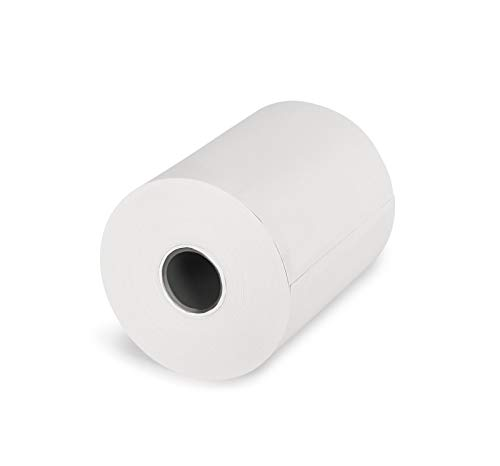 KK Verpackungen® EC-Cash Thermorollen | 100 Rollen, 57mm x 25m x 12 mm Bonrollen mit Ø45mm | Kassenrollen aus BPA freiem 55g/m² Thermopapier