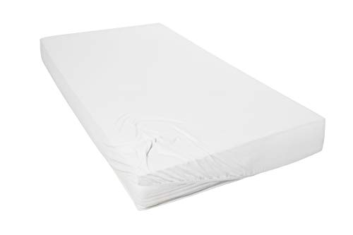 Primera Mako-Feinjersey Jersey-Spannbetttuch, weiß, 180x200-200x200 cm