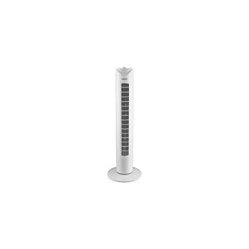 Ventilador de torre OCEANIC 81 cm - 45 vatios - 3 velocidades - Oscilante - Temporizador - Blanco