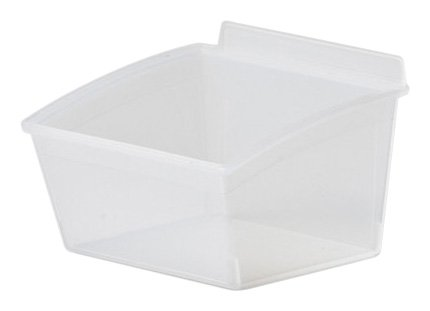 Flow Wall FBS-HB210-C Small Hard Bin, Add-on Accessory for Flow Wall Systems, Clear, 5-Pack