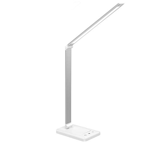 Lámpara Escritorio LED,Lámparas de Mesa USB Regulable Recargable-2000mAh Plegable Luz(5 * 10...