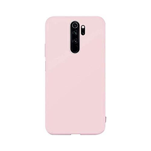 cuzz Custodia Xiaomi Redmi Note 8 PRO+{Film di Vetro temperato}Silicone TPU Cover Morbida Protettiva Custodia Ultra Sottile Leggero Cover-Rosa Chiaro