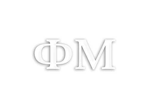 Officially Licensed Phi Mu 6' x 3' Window Decal - White