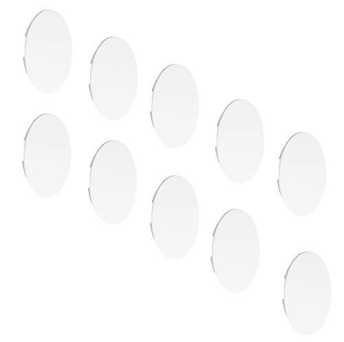 Gedotec PVC Blindstopfen rund Abdeckungen Kunststoff Möbel-Abdeckkappen weiß zum Eindrücken - H1128 | Schrauben-Kappen für Blindbohrung Ø 35 mm | 20 Stück - PE Kappen für Möbel - Rohre & Bohrlöcher