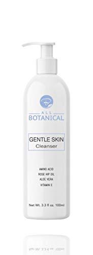 Natural Sensitive Facial Cream Cleanser - with Rose Hip, Hyaluronic Serum, Aloe Vera and Vitamin E.