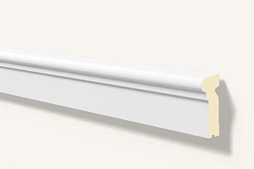 Antepecho Fachada/Moldura decorativa exterior gris RAL 9020 NMC DOMOSTYL® FA13 140X60X2000mm Poliuretano Gran Calidad 2 metros