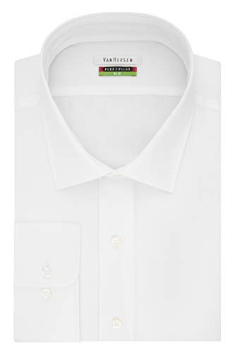 Van Heusen mens Big Fit Flex Collar Solid (Big and Tall) Dress Shirt, White, 18 Neck 32 -33 Sleeve XX-Large US