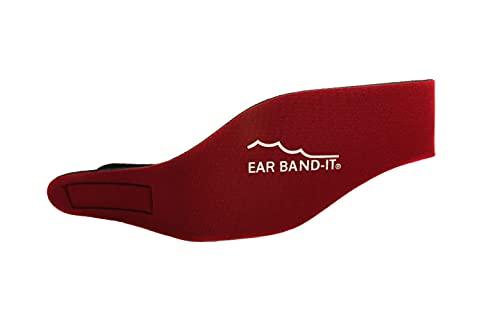 Ear Band-It Diadema Schwimmen (erfunden von einem Arzt) behält Wasser, vorbehaltlich die Stecker Ohren (sicher) die Stecker Ohren Groß (im Alter von 10 Erwachsenen) Rot