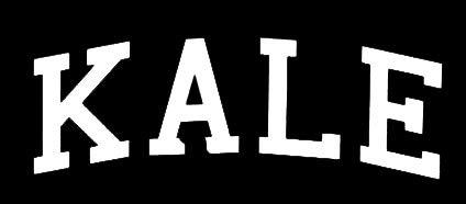 LLI LLI1391 Vinyl-Aufkleber Kale - Auto, LKW, Vans, Wände, Laptop, Weiß, 14 x 4,9 cm