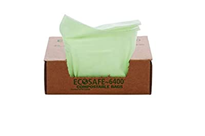 """STOUT by Envision E2430E85 EcoSafe-6400 Compostable Bags, 24"""" x 30"""", 13 gal Capacity, 0.85 mil Thickness, Green (Pack of 45)"""