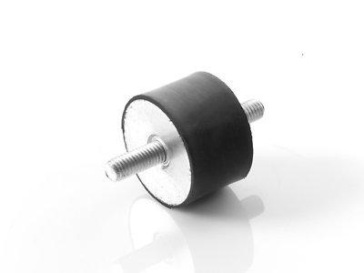 4 Stück Maschinenfuß Möbelfuß Gummi-Metall-Element mit 2-seitigem Gewinde Typ A (M8x23, 40x30)