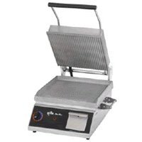 "208V Star Manufacturing CG14B Pro-Max ""Panini"" Grill, 14 x 14 in. Grooved Surface"