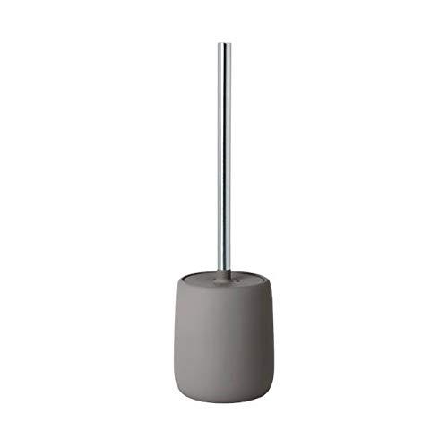 blomus Sono - Scopino per WC in Ceramica, plastica, Silicone, Satellite, Altezza: 39 cm, Diametro: 11 cm