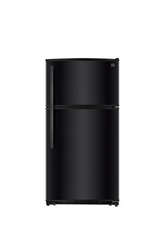 Kenmore Top-Freezer Refrigerator with LED Lighting and 20.8 Cubic Ft. Total Capacity, Black