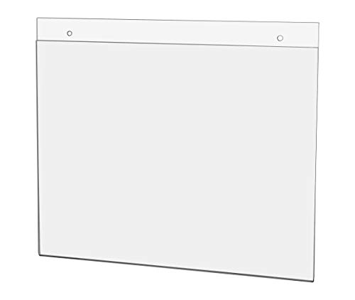 """Marketing Holders 11""""W x 8½ """"H Sign Sleeve Check List Warnings Pack of 10 Signage Holder Certificate Store Hours Menu Handout Notice Horizontal Flyer Instructions Exit This Way Holiday Party Event"""