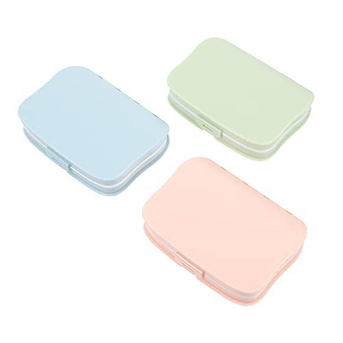 Hemoton 3 Piezas Caja de Pastillas Organizador de Pastillas para Suplementos de Aceite de Hígado de Bacalao Y Caja de Almacenamiento de La Rejilla de Los Medicamentos Organizador de Caja