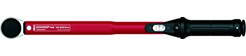 GEDORE red Drehmomentschlüssel für Links- und Rechtsgewinde, 1/2Zoll, 40-200Nm, Stahlrohr, Rot/Schwarz - 2