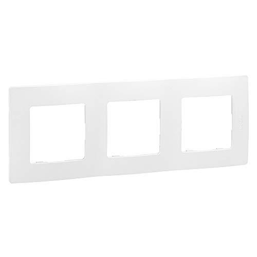 Placa niloé, 3 elementos, blanco (Legrand 665003)