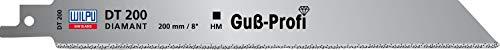 "Wilpu 1 Diamant - Säbelsägeblatt 200mm 1/2\"" Schaft für Guß, Backstein, Keramik, GFK"