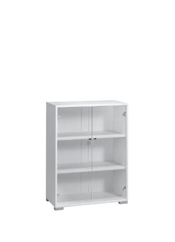 MAJA-Möbel 1228 5539 Aktenregal mit Glastüren, Icy-weiß, Abmessungen BxHxT: 80 x 109,7 x 40 cm