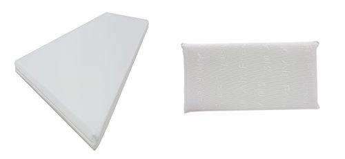 Dibapur®: Q 3D Air Fresh-set - 9 zones orthopedische koudschuimmatras + visco hoofdkussen keuze: x ca. 15,5 cm kern met 3D Air Fresh overtrek ca. 16 cm hardheidsgraad: H2,5 (tot ca. 110 kg) Q staat voor kwaliteit. Made in Germany