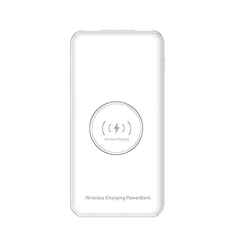 Cargador portátil de 10000 mAh de banco de energía portátil de 10 W inalámbrico pequeño de energía móvil de carga rápida Cargador de alta capacidad ligero delgado batería móvil para el hogar