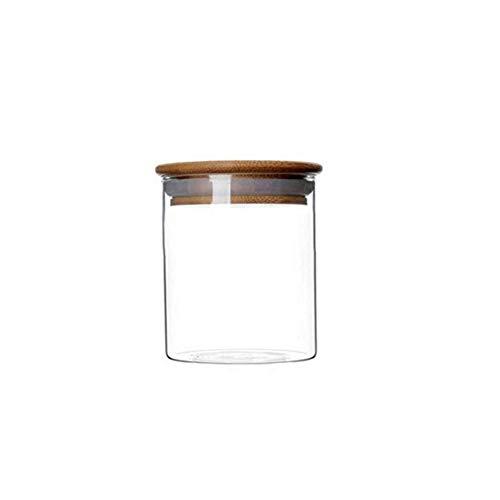 Vasetti in vetro da 250ml con chiusura ermetica in bambù anello in silicone ermetico per cucina contenitore per alimenti contenitore in vetro per caffè tè spezie sale zucchero biscotti snack farina