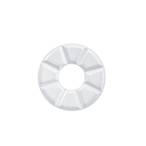 Lazxcnvb Juego de platos cp, plato blanco combinado, es perfecto para una comida grande. (68 x 25 cm)
