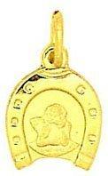 Schutzengel Anhänger echt 585 Gold 14 Karat (327) Gratis Express Gravur