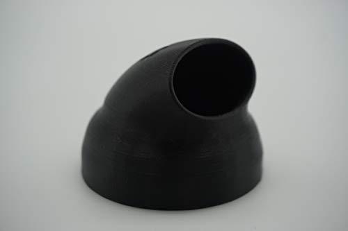 Pooldüse für INTEX Whirlpools, abgewinkelt für bessere Umwälzung und Reinigung (Kunststoff, Schwarz)