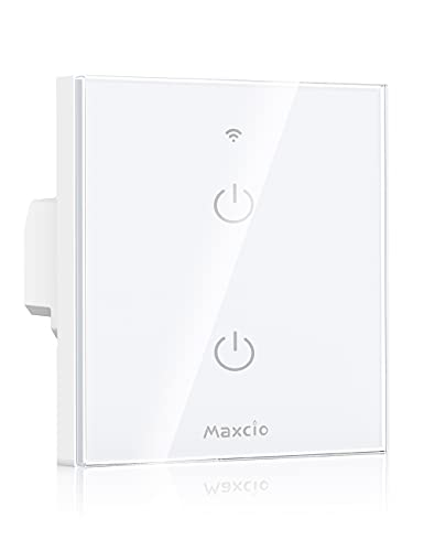 Interruptor inteligente Maxico Wifi 2 Gang compatible con Alexa