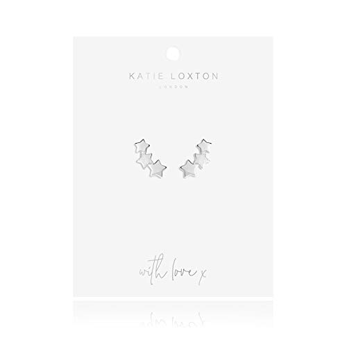 Katie Loxton Wish Upon a Star Womens Silver Plated Stud Earrings Star Cluster
