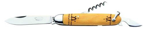Nontron - Couteau de Poche Nontron Navette N° 38 - Manche en buis 10 cm