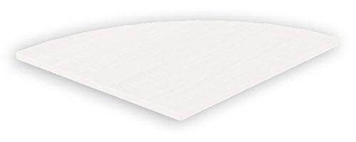 VCM Eckplatte für Tisch Schreibtisch Computertisch Ecktisch Weiß 8 x 50 x 50 cm