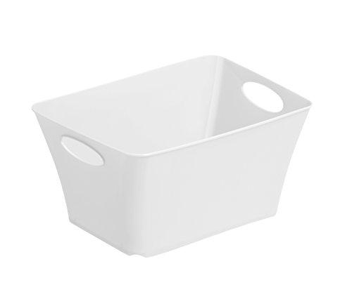 Rotho Living Mini -Aufbewahrungskorb 1.5 l, Kunststoff (PP), Weiß, 1.5 Liter (18 x 13,5 x 9 cm)