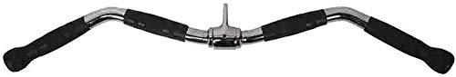 Tokujn Barra recta giratoria, presione la barra hacia abajo Lat Tire hacia abajo de la barra de la barra del accesorio para la máquina del cable, las empuñaduras de goma antideslizante y la percha gir