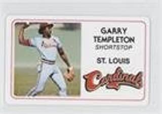 Garry Templeton (Baseball Card) 1981 Perma-Graphics/Topps Credit Cards - [Base] #125-010