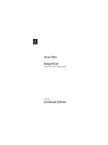 Arvo Part: Magnificat (Choral Score). Für SATB (Gemischter Chor)